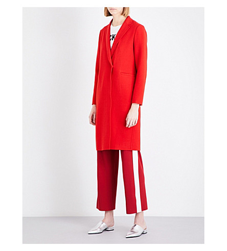 MO&CO. Worsted wool-blend coat (Fiery+red