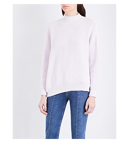 MO&CO. Oversized chunky-knit sweater (Orchid+hush