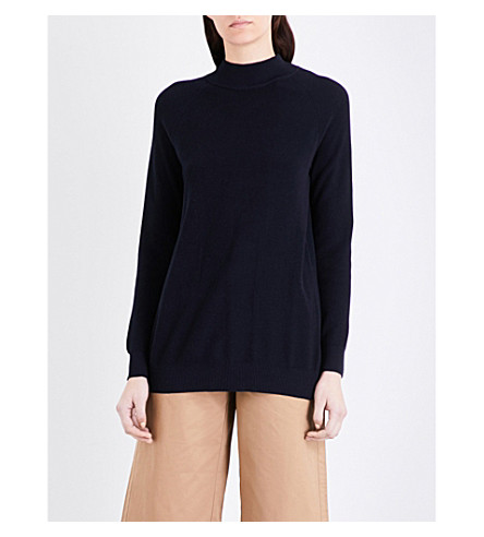 MO&CO. Open-back knitted jumper (Dress+blues