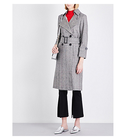 MO&CO. Welsh plaid cotton-blend trench coat (Wales+check