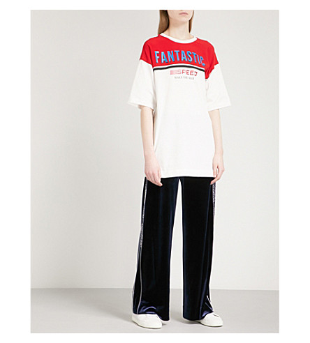 MO&CO. Fantastic oversized cotton-jersey T-shirt (Snow+white