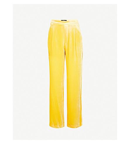 MO&CO. High-rise flared velour trousers (Ceylon