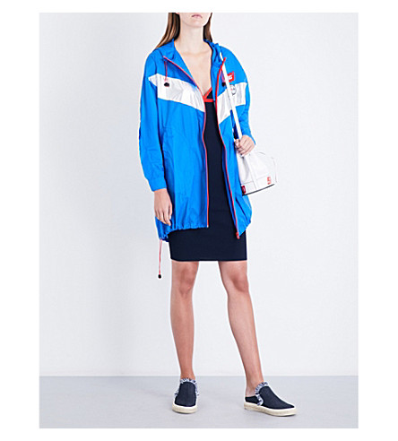 MO&CO. Colour block shell windbreaker (Brilliant+blue