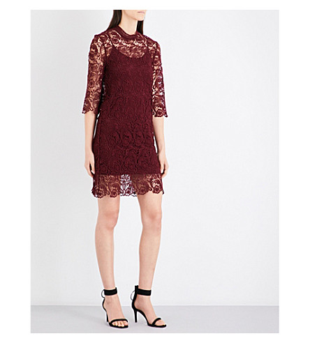 MO&CO. Layered lace dress (Biking+red