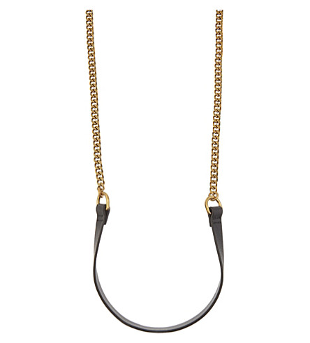 MO&CO. Copper and leather necklace (Pale+gold