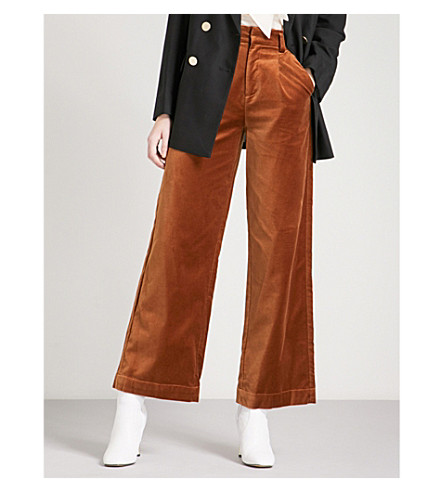 MO&CO. Wide-leg velvet trousers (Cathay+spice