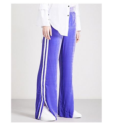 MO&CO. Wide-leg velvet trousers (Purple+opulence