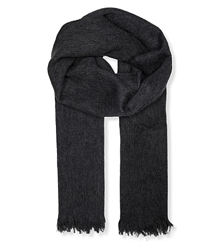 MO&CO. Wool scarf (Heather+grey