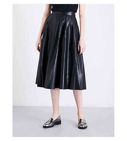 MO&CO. Eco faux-leather skirt (Black