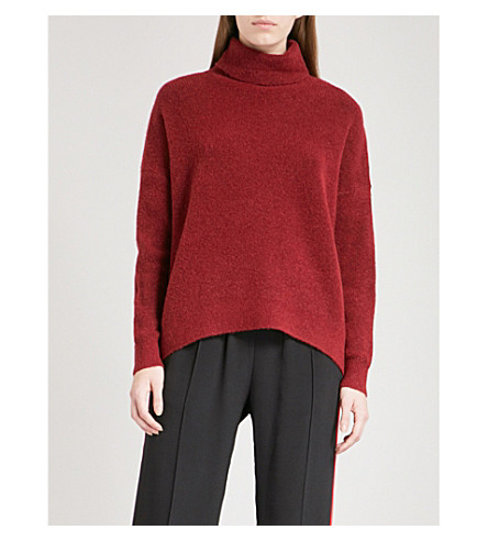 MO&CO. Turtleneck knitted jumper (Biking+red
