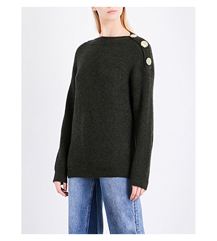 MO&CO. Marl-pattern knitted jumper (Chive
