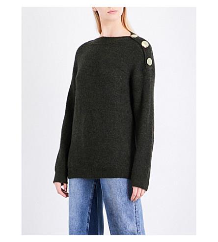 MO&CO.石灰泥图案针织毛衣 (韭菜