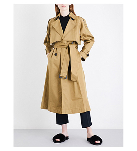 MO&CO. Belted cotton-twill trench coat (Plantation