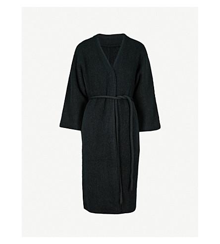 MO&CO. Oversized knitted cardigan (Black