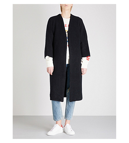 MO&CO. Oversized knitted cardigan (Black