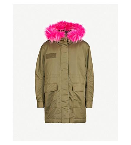MO&CO. Faux fur-trim padded coat (Cypress