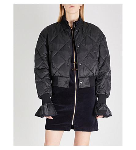 MO&CO. Baseball satin-down bomber jacket (Black