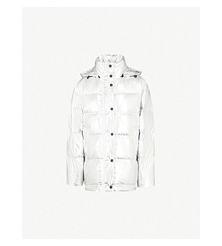 MO&CO. Metallic puffer and down-blend jacket (Silver