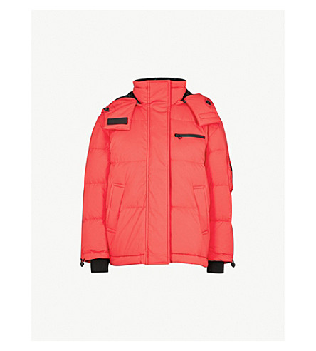 MO&CO. Detachable-hood shell puffer jacket (Lollipop