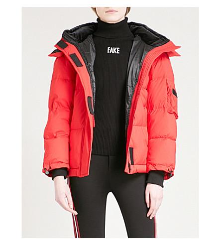 MO&CO. Detachable-hood shell puffer jacket (Lollipop