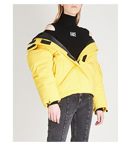 shell MO MO Detachable Yellow amp jacket hood puffer amp CO YYxfUq