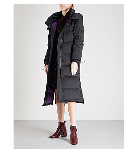 MO&CO. Quilted down-blend coat (Black