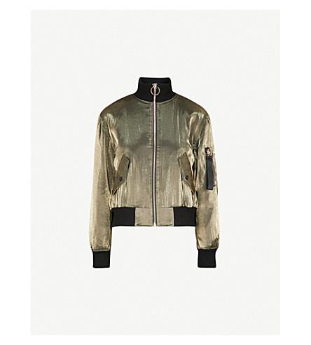 MO&CO. Metallic shell bomber jacket (Bling+black