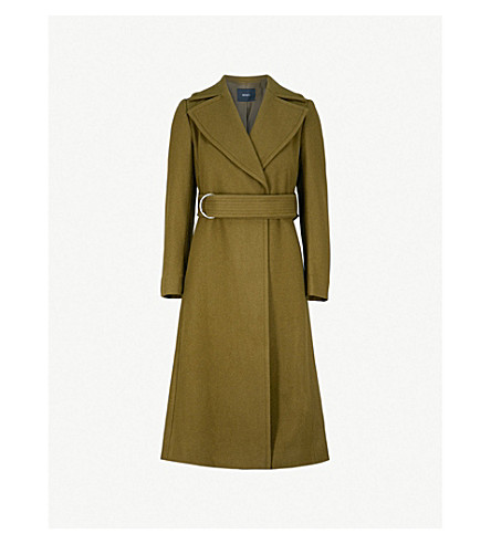 MO&CO. Notch-lapel wool-blend coat (Chive