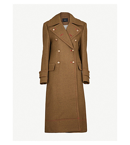 MO&CO. Double-breasted wool-blend coat (Chive