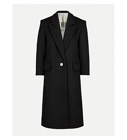 MO&CO. Single-breasted wool-blend coat (Black