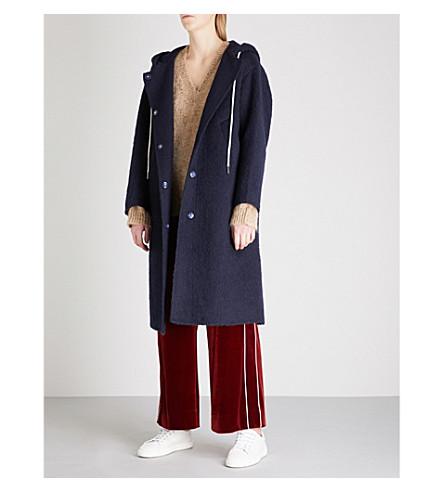 MO&CO. Nobody Cares wool-blend coat (Peacoat