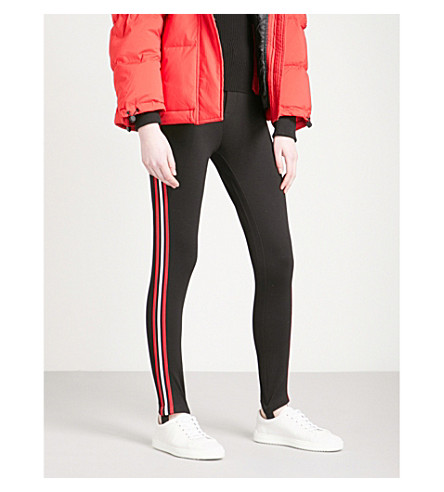 MO&CO. Stirrup-detail high-rise jersey leggings (Black