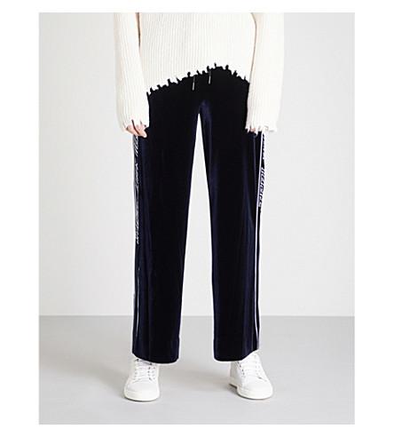 MO&CO.侧条纹丝绒慢跑裤 (Peacoat