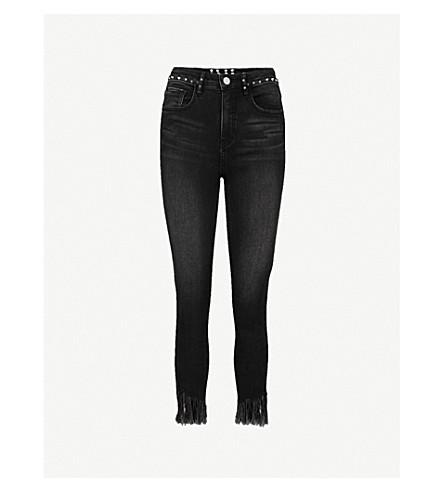 MO&CO. Destroyed skinny high-rise jeans (Black+denim