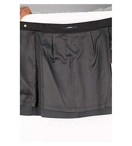 MO&CO. Zip-detail PVC skirt (Black