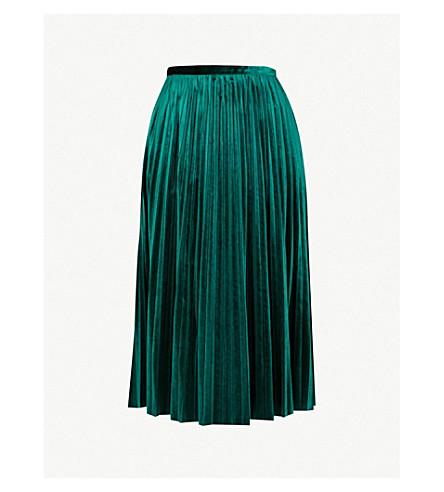 MO&CO. Pleated velvet skirt (June+bug