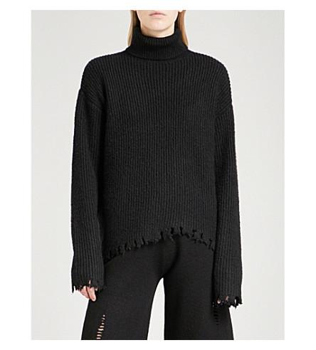 MO&CO. Turtleneck wool-blend jumper (Black