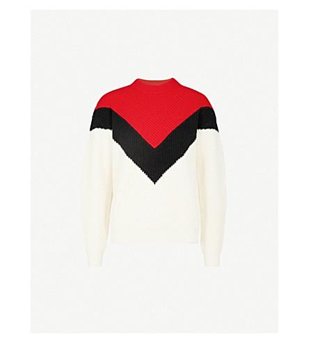 MO&CO. Colour-block wool jumper (Gardenia