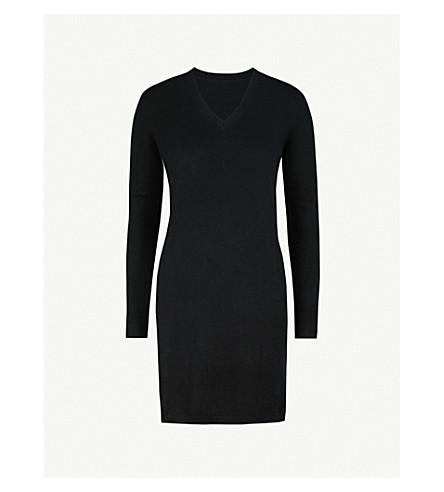 MO&CO. Side-slit wool jumper (Black