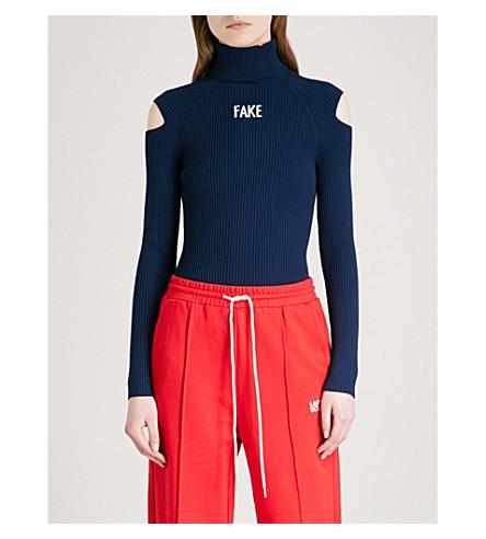 MO&CO. Fake turtleneck knittted jumper (True+navy