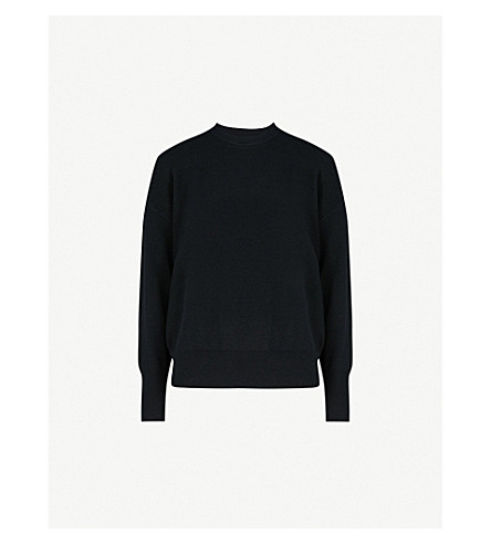 MO&CO. Lace-up wool jumper (Black