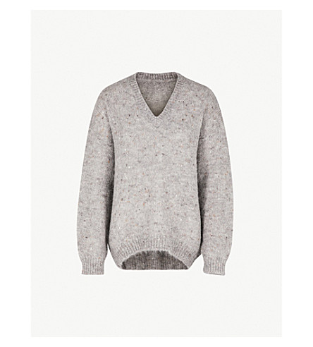 MO&CO. Heather knitted jumper (Heather+grey