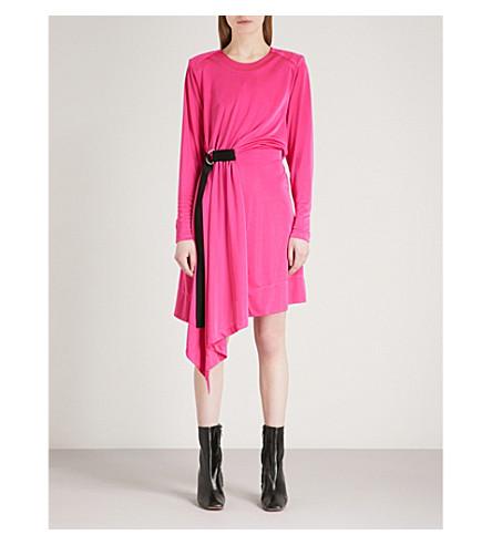 MO&CO. Asymmetric satin dress (Fluorescence+pe