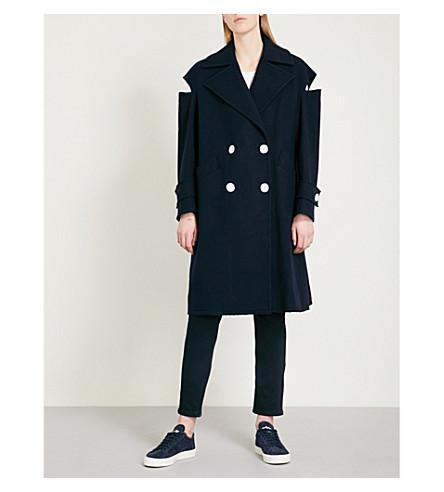 MO&CO. Notch-lapel wool-blend coat (Peacoat