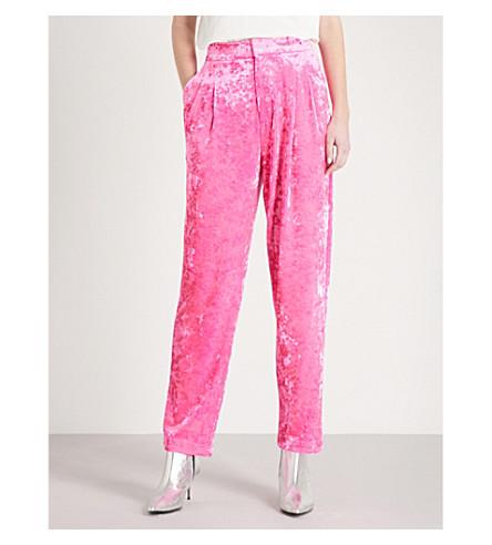 MO&CO. Straight-leg velvet trousers (Fluorescence+pe