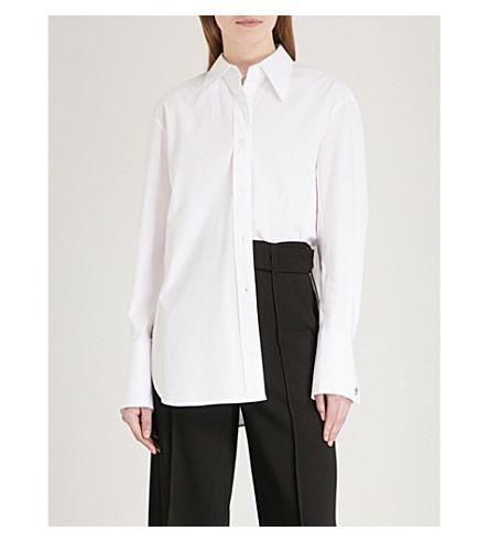 MO&CO. Oversized stretch-cotton shirt (Snow+white