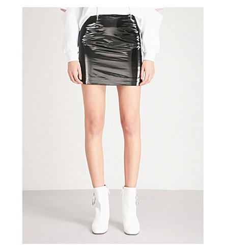 MO&CO. Mid-rise PVC skirt (Black