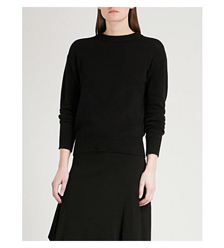 MO&CO. Keyhole wool jumper (Black
