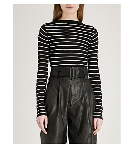MO&CO. Striped wool jumper (Black+and+white