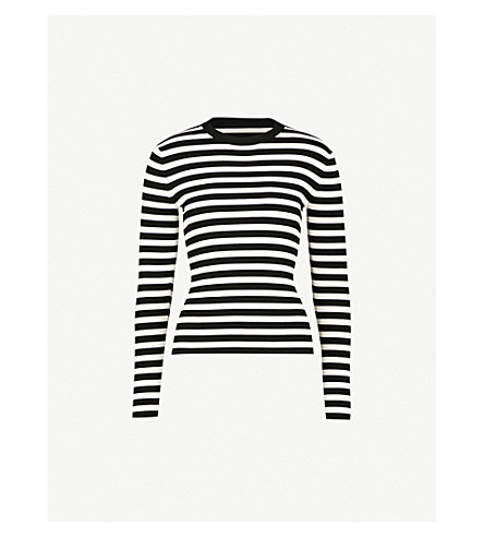 MO&CO. Striped knitted jumper (Black+and+white